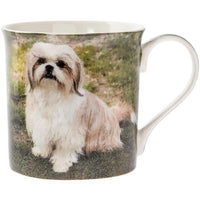Shih tzu in tan and white dog mug