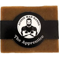 The Apprentice is a natural, handmade soap to scrub and lather the dirt and grime from a hard days work right off.