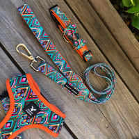 Bright and Beautiful Moroccan Sunrise Pet Harness by Soapy Moose