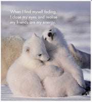 Little book of Baby Wonder - by Affirmations - page reads - When I find myself fading, I close my eyes and realise my friends are my energy.