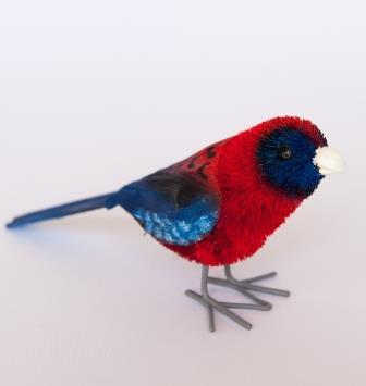 Crimson Rosella Bird Medium 11cm