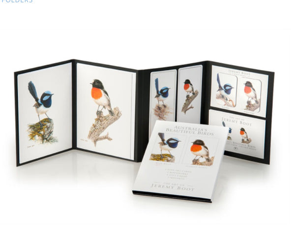 Australia's Beautiful Birds beautifully presented gift packs great for overseas gifts. Created by Jeremy Boot