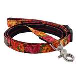 Autumn Flowers Dog Leash - Adjustable 85cm to 140cm in length