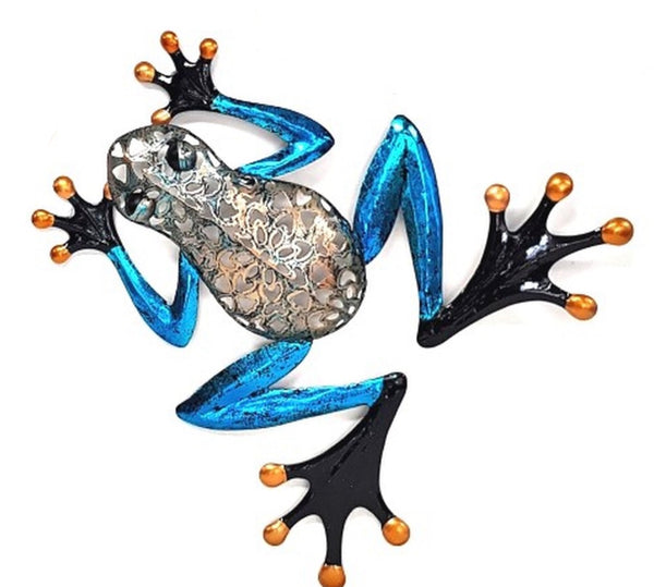 Beautiful Frog with filigree body and blue legs. Great for any frog lover.