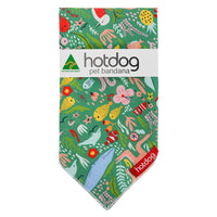 Hot Dog Bandana - Down Under Green