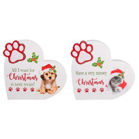 Tabletop Christmas Plaques Cat (Have a very Meowy Christmas) or Dog (All I want for Christmas is tasty treats)