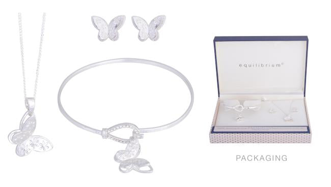 Butterfly 3 Piece Jewellery Set