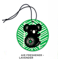 Designs by Leonard - Air freshener - Lavender - Retro Koala Design