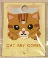 Ginger and white tabby cat key cover