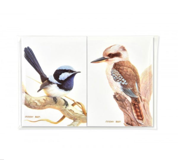 Blue Wren and Kookaburra Purse pads - illustrated and beautifully created by Jeremy Boot