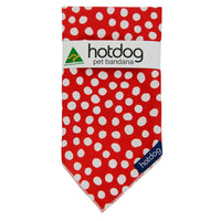 Hot Dog Bandana - Spot Red