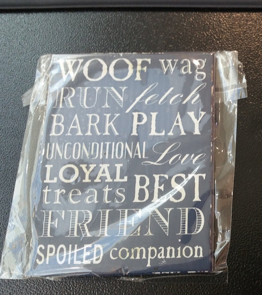 Magnet - Woof Way run fetch bark play unconditional love loyal treats best friend spoiled companion