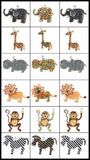 African Beaded Keyrings - Elephant, Giraffe, Hippo, Lion, Monkey and Zebra