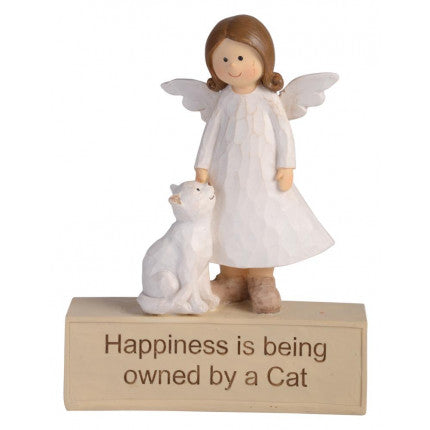 Angle with a Cat - Happiness is Being owned by a Cat