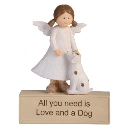 Angle with Dog - All you need is love and a Dog