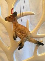 Kangaroo Christmas Tree Ornament 9cm