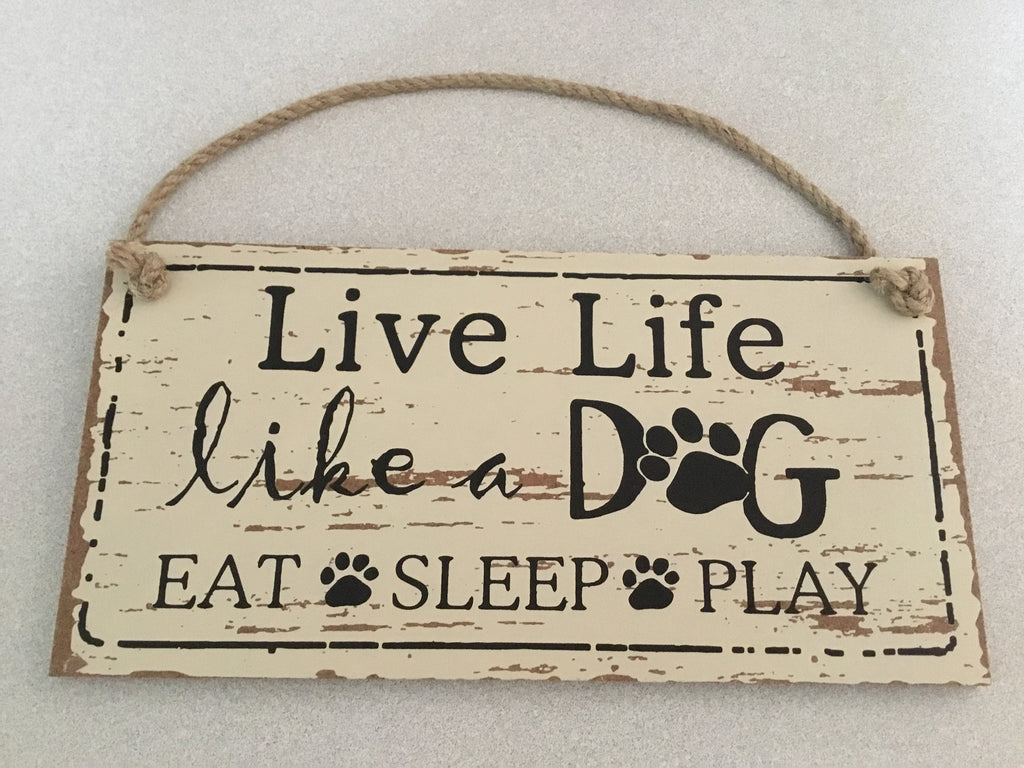 Rustic Signs - Live Life