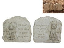 Memorial Stone - Angels - Cat or Dog