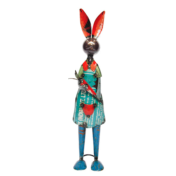 Madam Bunnykin from Think Outside. Created from recycled metals