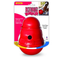 KONG Wobbler Small for action packed food - dispensing toy that provides mental stimulation