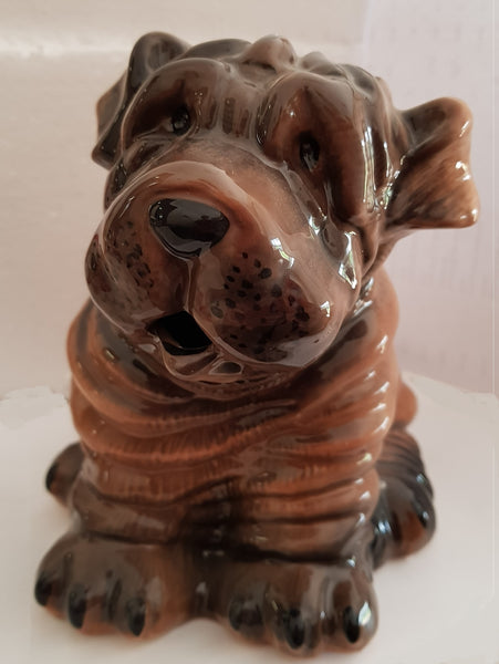 Shar Pei Dog Collectable Teapot - Blue Sky