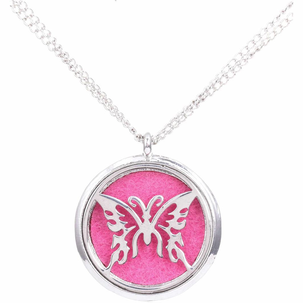 Fragrance Locket Necklace - Owl or Butterfly
