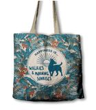 ECO Bag - Happiness is walkies and morning sunrises