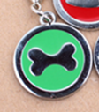 Pet Tag - 25mm Coloured Round Coloured disc with Bone Shape