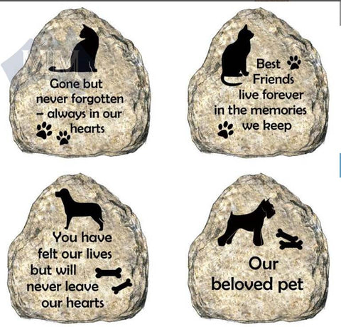 Memorial Stones - 9cm high Dog and Cat