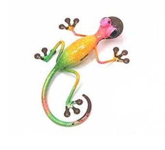 Multi Colour Metal Gecko