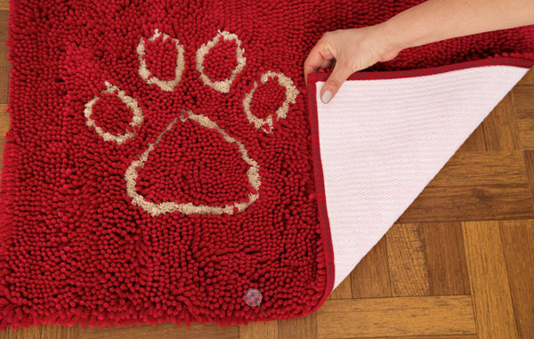 Red Dirty Dog Doormat with Rubber backing