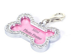 Pet Tag - 32mm x 21 mm Photo Frame with Rhinestone Pet tag