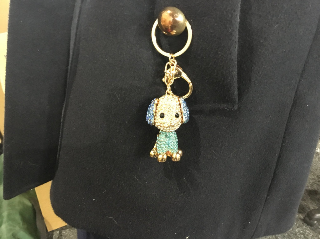 Diamanté key rings dog