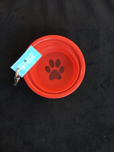 Pop-up portable pet bowl