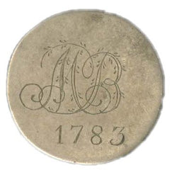 Love Token with Engraved Initials Monogram and Date