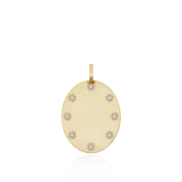 Large Oval Token + Diamonds