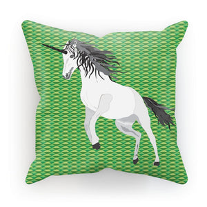 Unicorn  on Green Cushion/Pillow