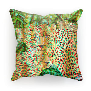 Four Gold Leopards 3D Art Cushion with FREE 3D Glasses to view!