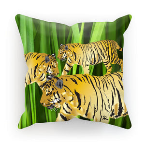 Three Gold Tigers Cushion/Pillow
