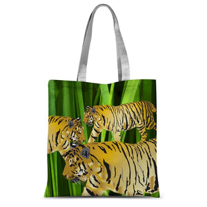 Three Gold Tigers Sublimation Tote Bag