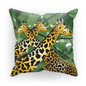 Three Golden Giraffes Cushion