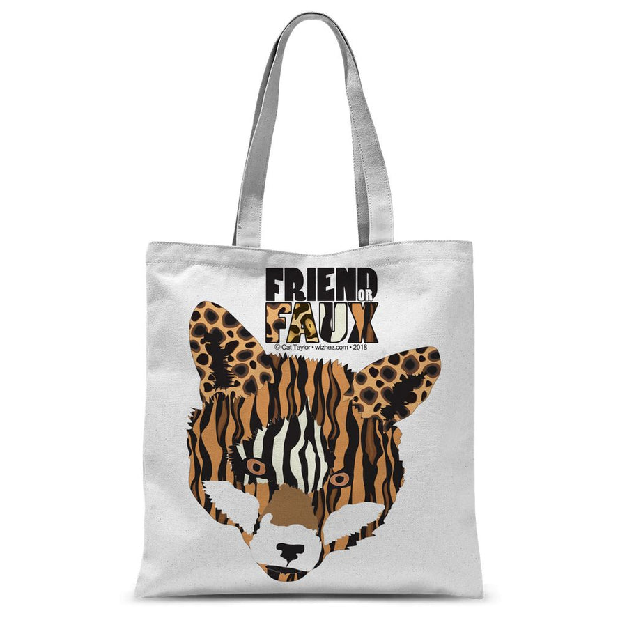 FRIEND OR FAUX Fox Sublimation Tote Bag