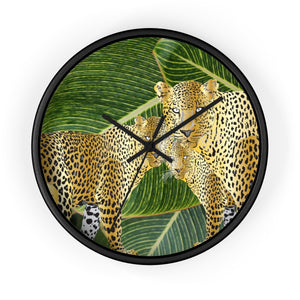 Three Gold Leopards Designer Wall clock