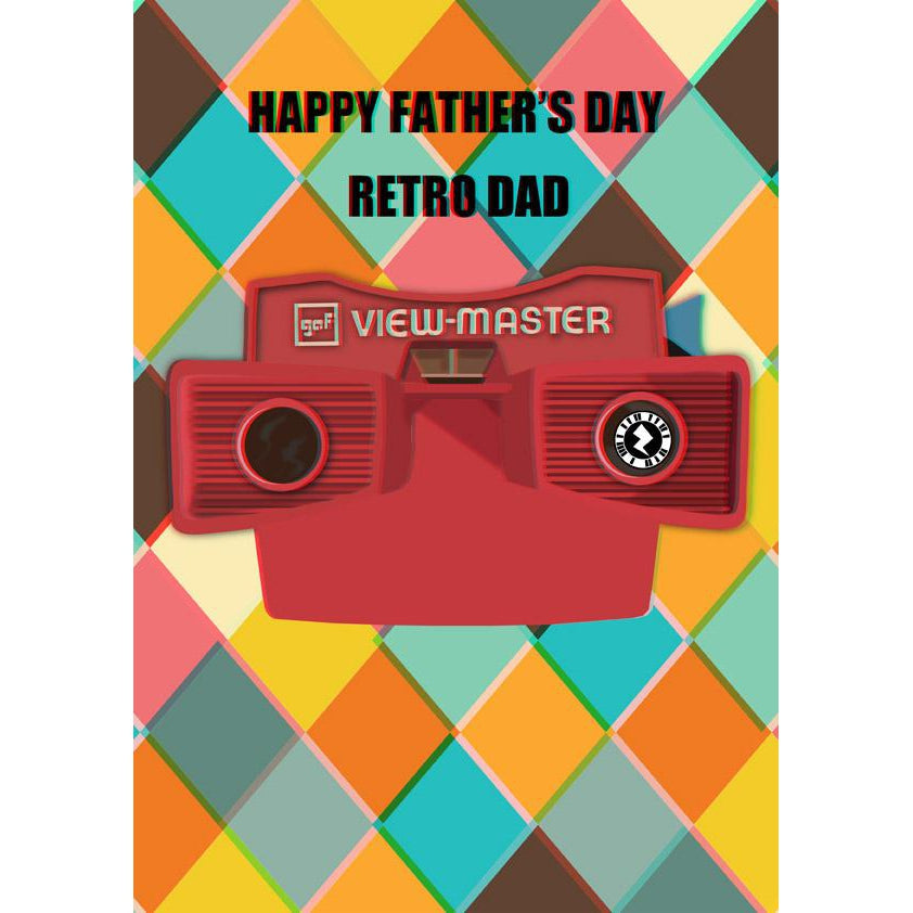 Zapz Father's Day Retro 3D Viewmaster Personalised Augmented Reality Greetings Card