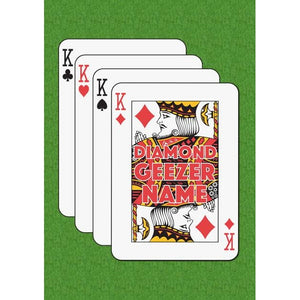 Father's Day Diamond Geezer King of Diamonds Card