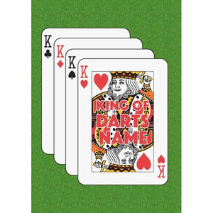 Father's Day 'King of Darts' King of Hearts Playing Card