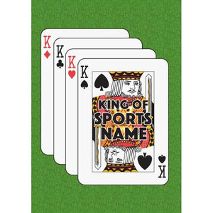 Father's Day 'King of Sports' King of Spades Playing Card