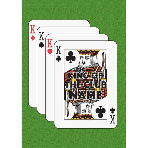 Father's Day 'King of The Club' King of Clubs Playing Card