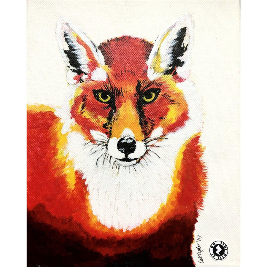 Fine Art Original Augmented Reality Canvas - Red Fox Kaleidoscope