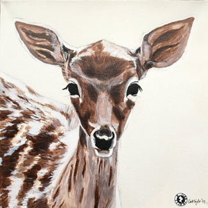 Fine Art Original Augmented Reality Canvas - Fawn Deer
